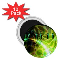 Dawn Of Time, Abstract Lime & Gold Emerge 1 75  Button Magnet (10 Pack) by DianeClancy