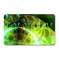 Dawn Of Time, Abstract Lime & Gold Emerge Magnet (rectangular) by DianeClancy
