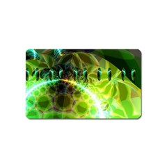 Dawn Of Time, Abstract Lime & Gold Emerge Magnet (name Card) by DianeClancy