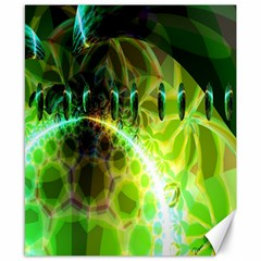 Dawn Of Time, Abstract Lime & Gold Emerge Canvas 8  X 10  (unframed) by DianeClancy