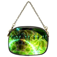 Dawn Of Time, Abstract Lime & Gold Emerge Chain Purse (two Sided)  by DianeClancy