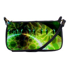 Dawn Of Time, Abstract Lime & Gold Emerge Evening Bag by DianeClancy