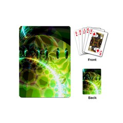 Dawn Of Time, Abstract Lime & Gold Emerge Playing Cards (mini) by DianeClancy