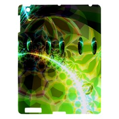 Dawn Of Time, Abstract Lime & Gold Emerge Apple Ipad 3/4 Hardshell Case by DianeClancy