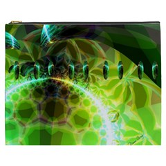 Dawn Of Time, Abstract Lime & Gold Emerge Cosmetic Bag (xxxl) by DianeClancy