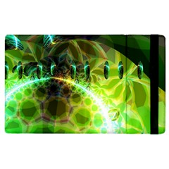 Dawn Of Time, Abstract Lime & Gold Emerge Apple Ipad 3/4 Flip Case by DianeClancy