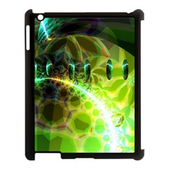 Dawn Of Time, Abstract Lime & Gold Emerge Apple Ipad 3/4 Case (black)