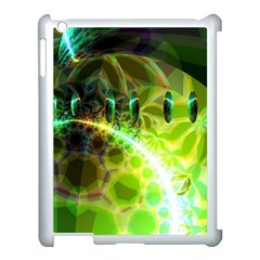 Dawn Of Time, Abstract Lime & Gold Emerge Apple Ipad 3/4 Case (white) by DianeClancy