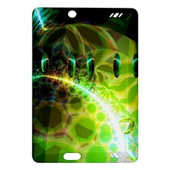 Dawn Of Time, Abstract Lime & Gold Emerge Kindle Fire Hd 7  (2nd Gen) Hardshell Case by DianeClancy