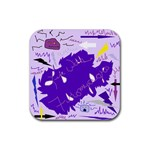 Life With Fibro2 Drink Coasters 4 Pack (Square) Front