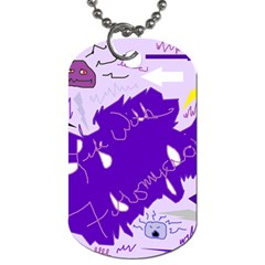 Life With Fibro2 Dog Tag (one Sided) by FunWithFibro