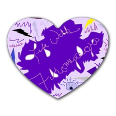 Life With Fibro2 Mouse Pad (heart) by FunWithFibro
