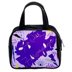 Life With Fibro2 Classic Handbag (two Sides) by FunWithFibro