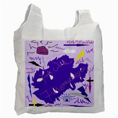 Life With Fibro2 White Reusable Bag (two Sides) by FunWithFibro