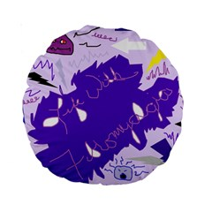 Life With Fibro2 15  Premium Round Cushion  by FunWithFibro