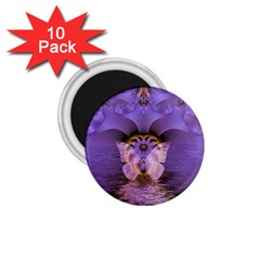 Artsy Purple Awareness Butterfly 1 75  Button Magnet (10 Pack) by FunWithFibro