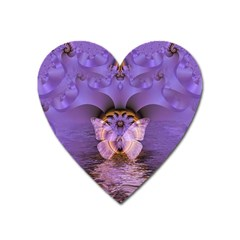 Artsy Purple Awareness Butterfly Magnet (heart) by FunWithFibro