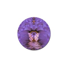 Artsy Purple Awareness Butterfly Golf Ball Marker 4 Pack by FunWithFibro