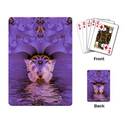 Artsy Purple Awareness Butterfly Playing Cards Single Design by FunWithFibro