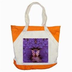 Artsy Purple Awareness Butterfly Accent Tote Bag by FunWithFibro