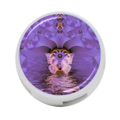 Artsy Purple Awareness Butterfly 4 Port Usb Hub (two Sides) by FunWithFibro