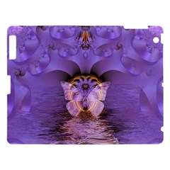 Artsy Purple Awareness Butterfly Apple Ipad 3/4 Hardshell Case by FunWithFibro