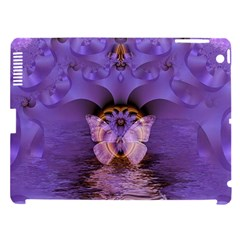 Artsy Purple Awareness Butterfly Apple Ipad 3/4 Hardshell Case (compatible With Smart Cover) by FunWithFibro
