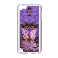 Artsy Purple Awareness Butterfly Apple Ipod Touch 5 Case (white) by FunWithFibro
