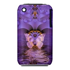 Artsy Purple Awareness Butterfly Apple Iphone 3g/3gs Hardshell Case (pc+silicone) by FunWithFibro