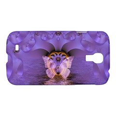 Artsy Purple Awareness Butterfly Samsung Galaxy S4 I9500/i9505 Hardshell Case by FunWithFibro