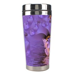 Artsy Purple Awareness Butterfly Stainless Steel Travel Tumbler by FunWithFibro