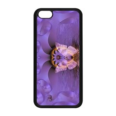 Artsy Purple Awareness Butterfly Apple Iphone 5c Seamless Case (black) by FunWithFibro