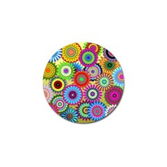 Psychedelic Flowers Golf Ball Marker by StuffOrSomething