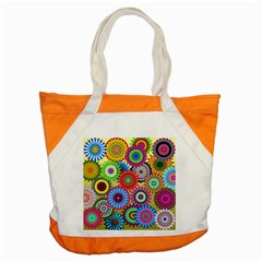 Psychedelic Flowers Accent Tote Bag by StuffOrSomething