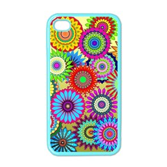 Psychedelic Flowers Apple Iphone 4 Case (color) by StuffOrSomething
