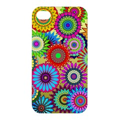 Psychedelic Flowers Apple Iphone 4/4s Hardshell Case by StuffOrSomething