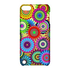 Psychedelic Flowers Apple Ipod Touch 5 Hardshell Case With Stand by StuffOrSomething