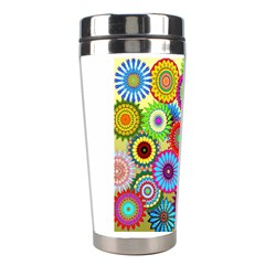 Psychedelic Flowers Stainless Steel Travel Tumbler by StuffOrSomething
