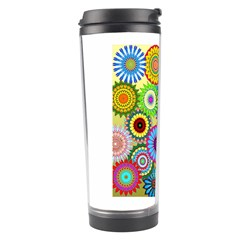 Psychedelic Flowers Travel Tumbler by StuffOrSomething