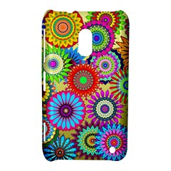 Psychedelic Flowers Nokia Lumia 620 Hardshell Case by StuffOrSomething
