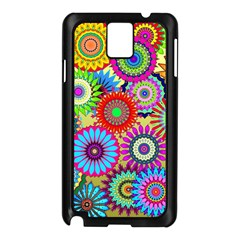 Psychedelic Flowers Samsung Galaxy Note 3 N9005 Case (black) by StuffOrSomething