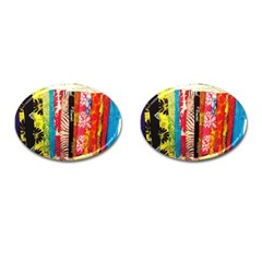 Sarongs(lavalava) Cufflinks (oval) by AJ1718