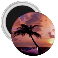 Sunset At The Beach 3  Button Magnet by StuffOrSomething
