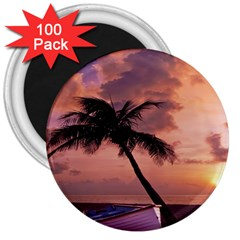 Sunset At The Beach 3  Button Magnet (100 Pack) by StuffOrSomething
