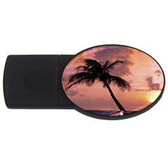 Sunset At The Beach 4GB USB Flash Drive (Oval) by StuffOrSomething