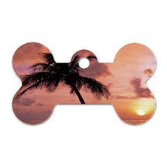 Sunset At The Beach Dog Tag Bone (two Sided) by StuffOrSomething