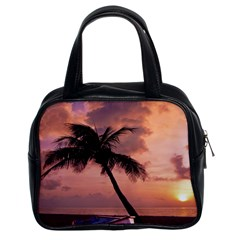 Sunset At The Beach Classic Handbag (Two Sides) by StuffOrSomething