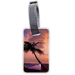 Sunset At The Beach Luggage Tag (one Side)