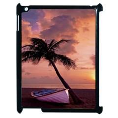 Sunset At The Beach Apple iPad 2 Case (Black)