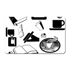 Books And Coffee Magnet (rectangular) by StuffOrSomething